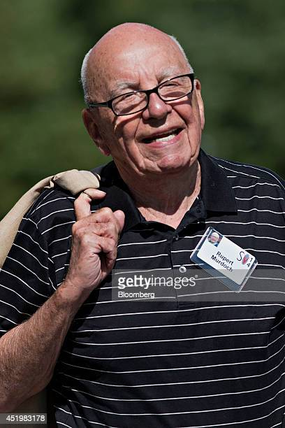 Rupert Murdoch chairman of News Corp walks outside during the Allen Co Media and Technology Conference in Sun Valley Idaho US on Thursday July 10...