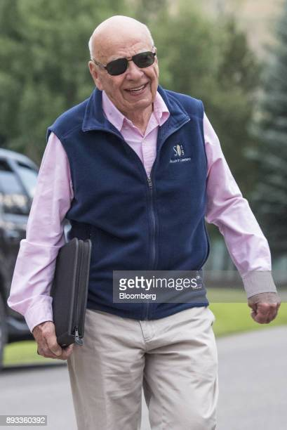 Rupert Murdoch cochairman and founder of TwentyFirst Century Fox Inc arrives for a morning session during the Allen Co Media and Technology...