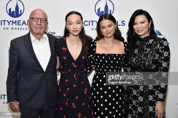 Rupert Murdoch Grace Murdoch Chloe Murdoch and Wendi Murdoch attend Citymeals On Wheels' 33rd Annual Power Lunch For Women at The Plaza Hotel on...
