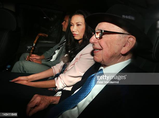 Rupert Murdoch is driven to The Royal Courts of Justice with his wife Wendi Deng Murdoch and son Lachlan to give evidence to The Leveson Inquiry on...