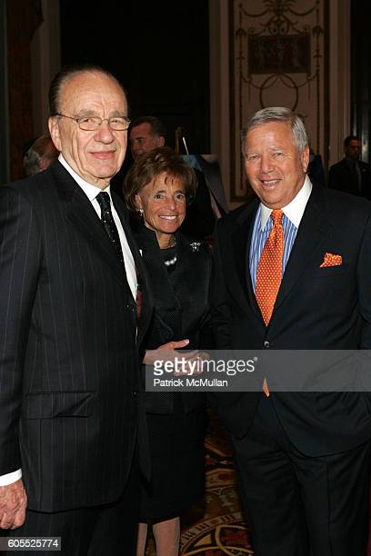 Rupert Murdoch Myra Kraft and Robert Kraft attend Simon Wiesenthal Center Honors Media Mogul Rupert Murdoch with Nicole Kidman Fox News Channel's...