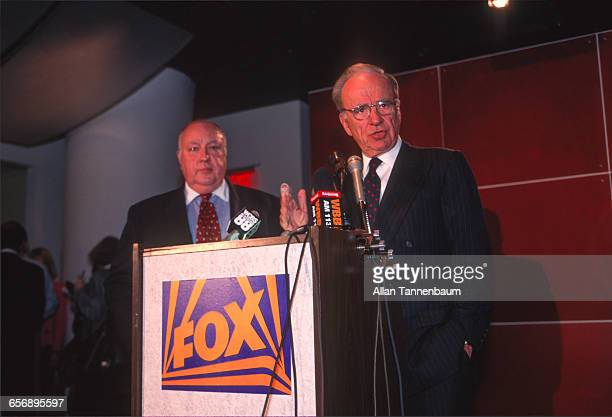 Rupert Murdoch names Roger Ailes as the head of Fox News New York New York January 30 1996