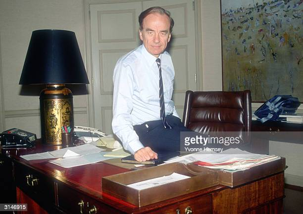 Rupert Murdoch poses for a photograph September 4, 1985 at his office in New York City.