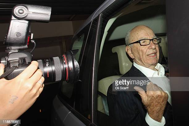 Rupert Murdoch the chief executive officer of News Corp is driven from his apartment on July 12 2011 in London England Allegations emerged yesterday...