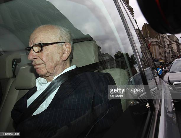 Rupert Murdoch, the chief executive officer of News Corp., is driven from his apartment on July 13, 2011 in London, England. The three main UK...