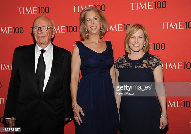 Rupert Murdoch, TIME managing editor Nancy Gibbs and United States Senator from New York Kirsten Gillibrand attends the TIME 100 Gala, TIME's 100...