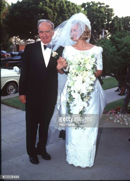 Rupert Murdoch with his daughter Elisabeth Murdoch who married Elkin Pianim the son of a Ghanaian politicianarrive at the wedding September 10...
