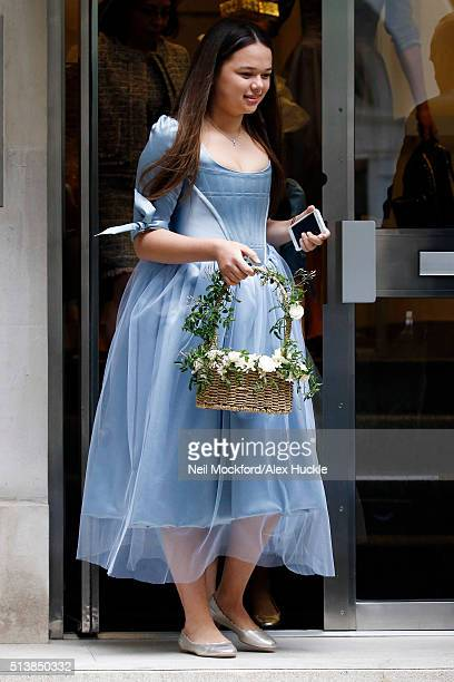 Rupert Murdoch's daughter Grace Helen Murdoch is seen leaving Rupert Murdoch's house before the wedding ceromony of Rupert Murdoch and Jerry Hall on...