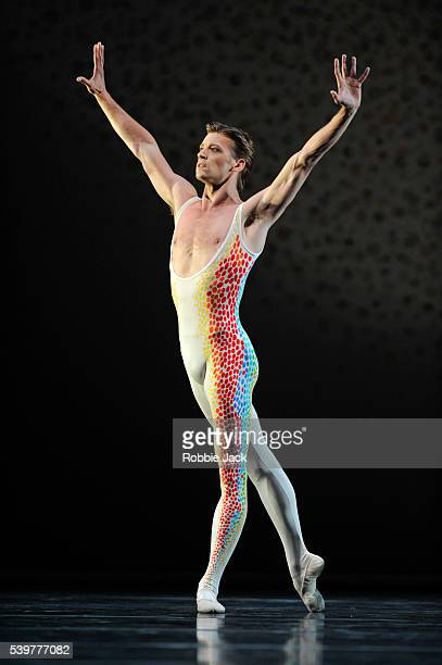 Rupert Pennefather in the Royal Ballet's production of Glen Tetley's Voluntaries at the Royal Opera House Covent Garden in London
