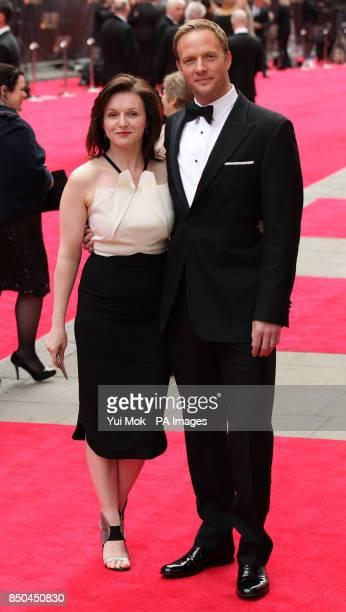 Rupert Penry Jones and Dervla Kirwan arrive at the Olivier Awards 2013 at the Royal Opera House in Covent Garden central London