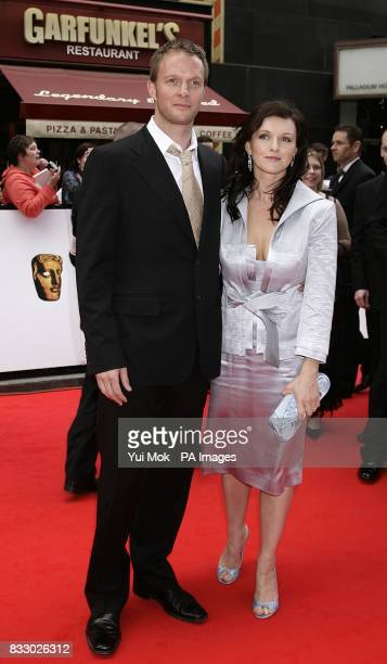 Rupert Penry Jones and Dervla Kirwan arrive for the British Academy Television Awards held at the London Palladium central London PRESS ASSOCIATION...