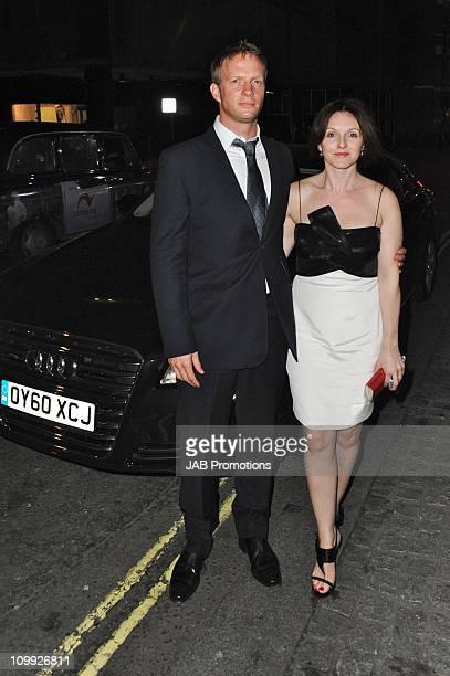 Rupert Penry Jones and Dervla Kirwan attends AUDI sponsored performance of 'Alice's Adventures in Wonderland Ballet' at The Royal Opera House on...