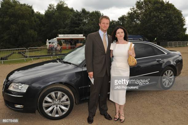 Rupert Penry Jones and Dervla Kirwan attends the AUDI Arrivals at the Cartier International Polo Day at Guards Polo Club on July 26, 2009 in Egham,...