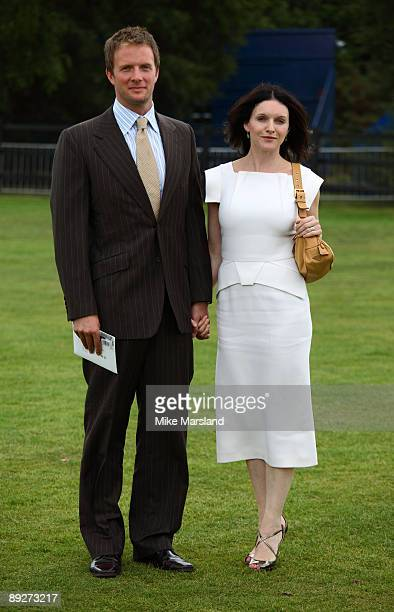 Rupert Penry Jones and Dervla Kirwan attends the Cartier International Polo Day at Guards Polo Club on July 26 2009 in Egham England