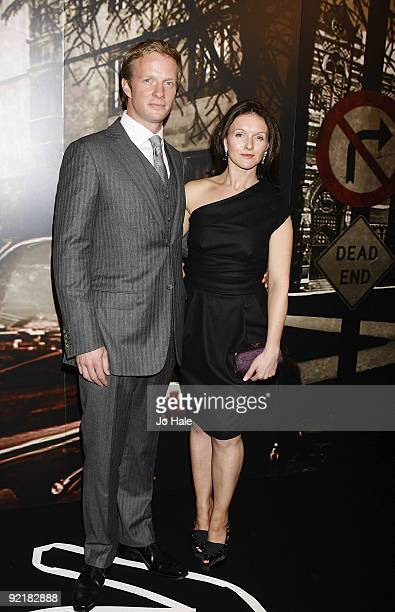 Rupert PenryJones and Dervia Kirwan arrive at the Specsavers Crime Thriller Awards ITV3 at the Grosvenor Hotel on October 21 2009 in London England