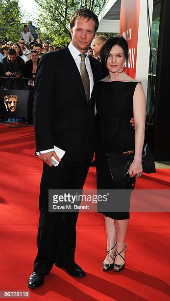 Rupert PenryJones and Dervla Kirwan arrive at the BAFTA Television Awards 2009 at the Royal Festival Hall on April 26 2009 in London England