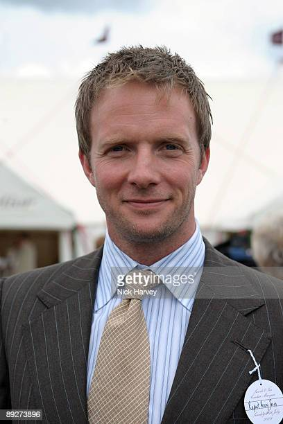 Rupert PenryJones at the Cartier tent during the Cartier Internaional Polo Day at Guards Polo Club on July 26 2009 in Egham England