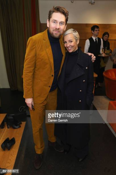 Rupert Sanderson and AnneMarie Curtis attend the Rupert Sanderson Christmas 2017 lunch at Rupert Sanderson store on Bruton place on December 13 2017...