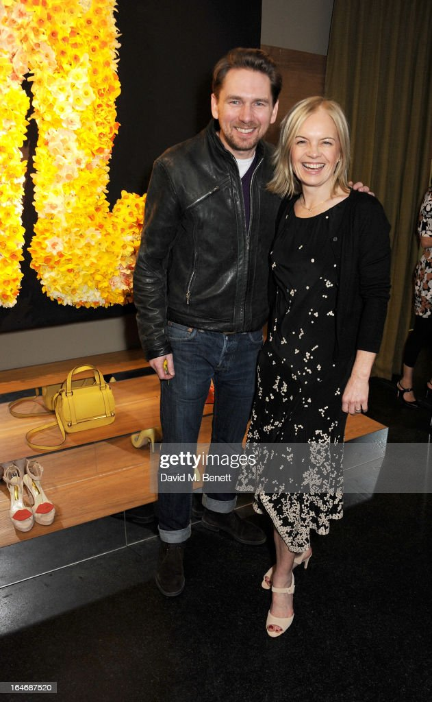 Rupert Sanderson (L) and Mariella Frostrup attend a cocktail party for shoe designer Rupert Sanderson, hosted by Mariella Frostrup, at his Bruton Place store on March 26, 2013 in London, England.