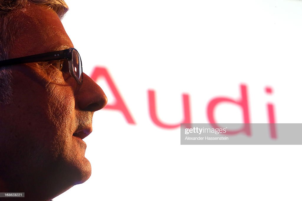 Rupert Stadler, CEO of Audi group looks on during a Audi group reception on March 11, 2013 in Munich, Germany.