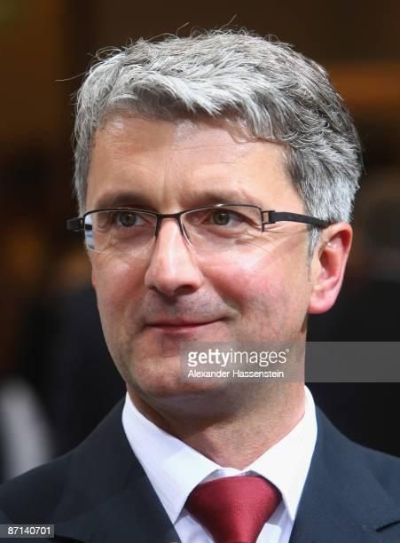 Rupert Stadler chairman of the Board of management of Audi AG looks on during the Audi shareholder meeting on May 13 2009 in Neckarsulm Germany...