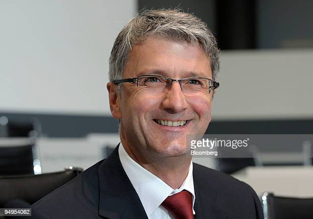 Rupert Stadler chief executive officer of Audi AG arrives for the company's 120th annual shareholders' meeting in Neckarsulm Germany on Wednesday May...