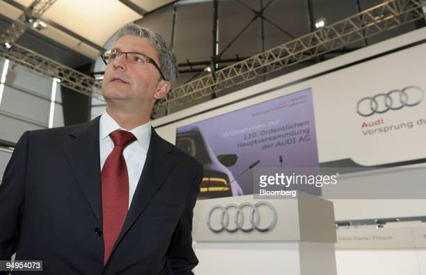 Rupert Stadler, chief executive officer of Audi AG, arrives for the company's 120th annual shareholders' meeting, in Neckarsulm, Germany, on...