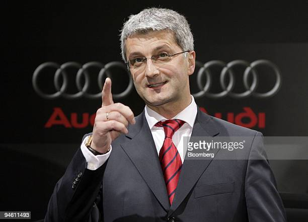 Rupert Stadler chief executive officer of Audi AG speaks during a press conference in Ingolstadt Germany on Wednesday Feb 28 2007 Audi AG Volkswagen...