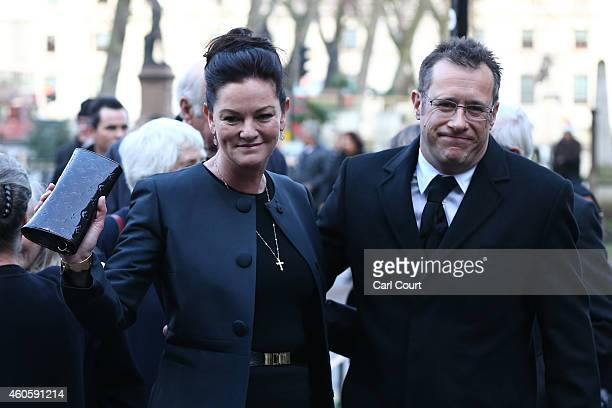 Rupert Thorpe son of Jeremy Thorpe and his wife Michelle attend the funeral of former Liberal Party party leader Jeremy Thorpe at Saint Margaret's...