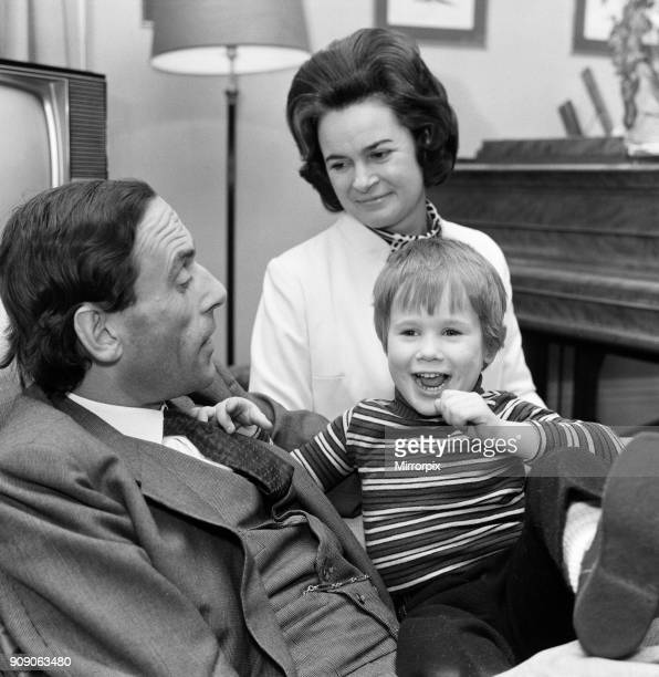 Rupert Thorpe who will be four in April pictured with his new mothertobe Lady Marion Harewood and his father Jeremy Thorpe at their London home 27th...