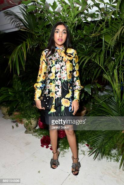 Rupi Kaur attends the Gucci X Artsy dinner at Faena Hotel on December 6 2017 in Miami Beach Florida