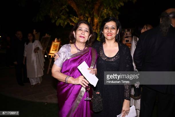 Rupika Chawla and Rukmini Chawla during the fundraiser for Lepra India Trust at the residence of the British High Commissioner Sir Dominic Asquith at...