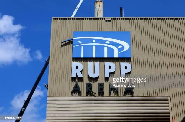 Rupp Arena, home of the University of Kentucky Wildcats basketball team in Lexington, Kentucky on July 29, 2019.