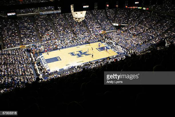 Rupp Arena is pictured during the game between the Kentucky Wildcats and the Florida Gators on March 5, 2005 in Lexington, Kentucky.