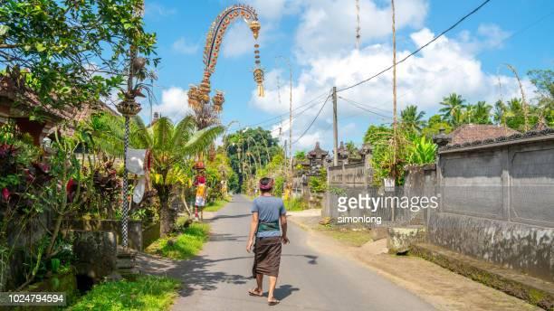 A rural area scene in Bali