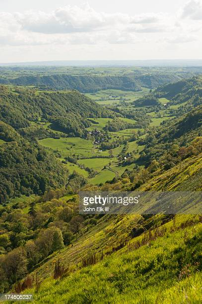 rural auvergne landscape - cantal stock pictures, royalty-free photos & images