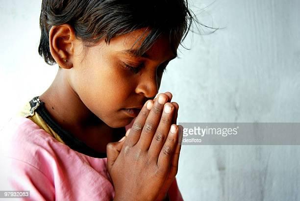 Rural child praying