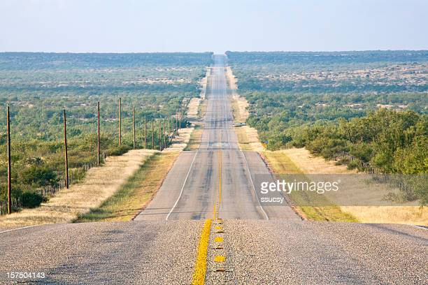 Rural Country Road, Long and Straight, Undulating to the Horizon