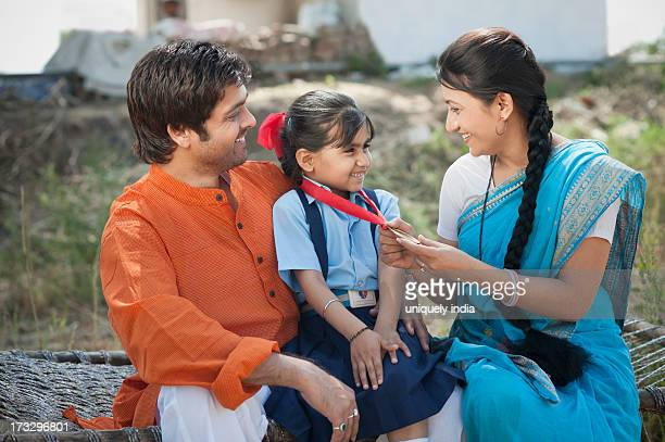 Rural couple enjoying the achievement of their daughter, Sohna, Haryana, India