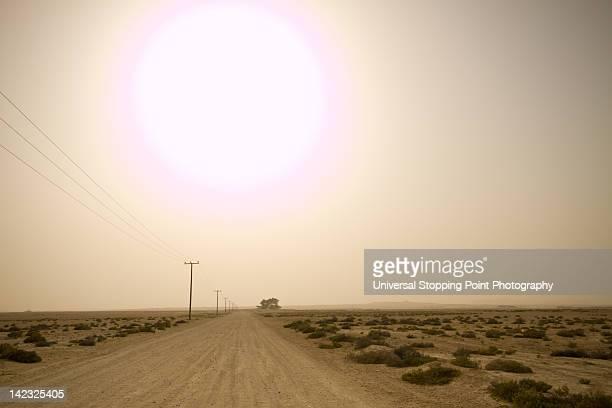 Rural desert road