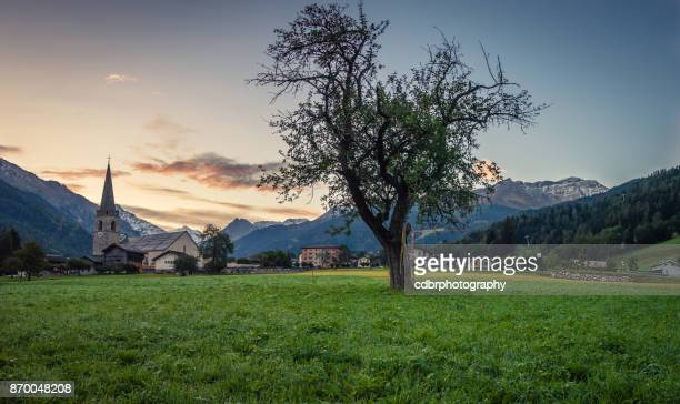 Ländliche europäischen Sonnenaufgang Landschaft