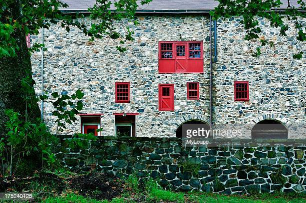 Rural field stone barn Stroud Preserve West Chester Chester County Pennsylvania