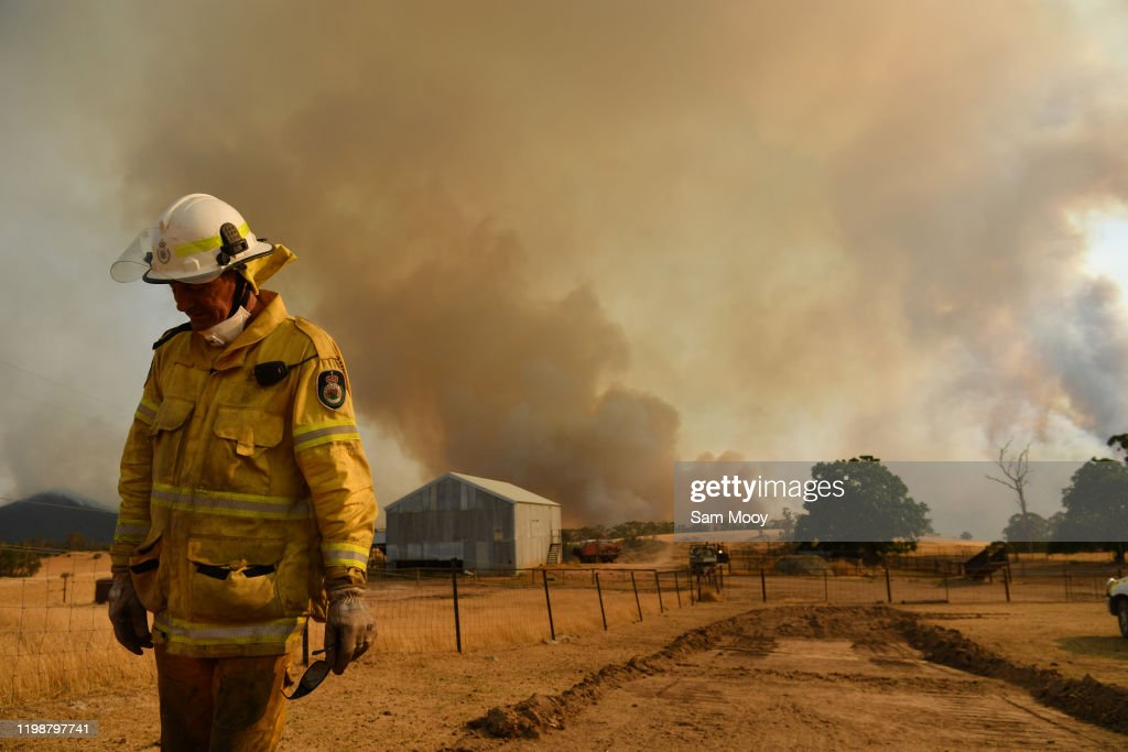NSW Surveys Damage Following Bushfires As Easing Conditions Bring Some Reprieve : News Photo