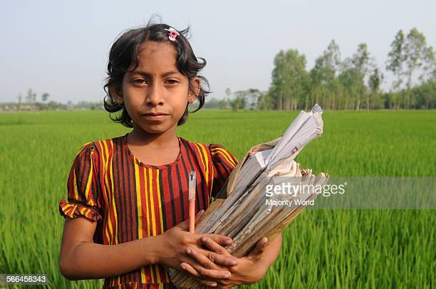 A rural girl goes to primary school in Bangladesh 2007