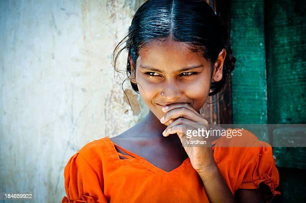 田園の少女 - テランガナ州 ストックフォトと画像