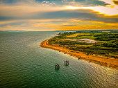 Rural Hampshire coastline and Countryside UK