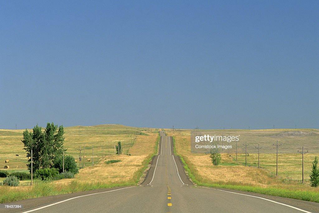 Rural highway : Stockfoto