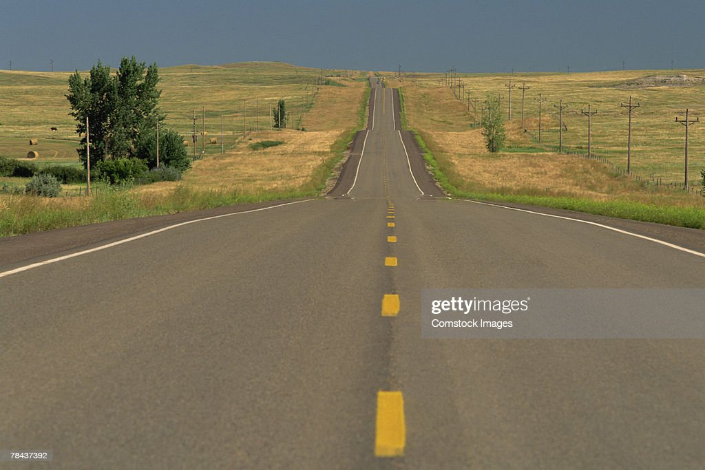 Rural highway road : Stockfoto