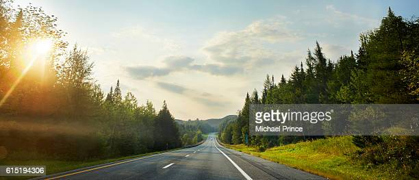 rural highway, vermont, usa - forest road stock pictures, royalty-free photos & images