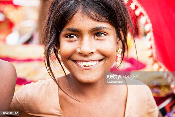 rural indian girl portrait